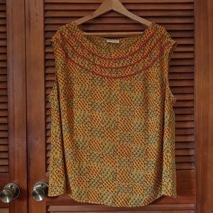 Cap sleeve chiffon blouse